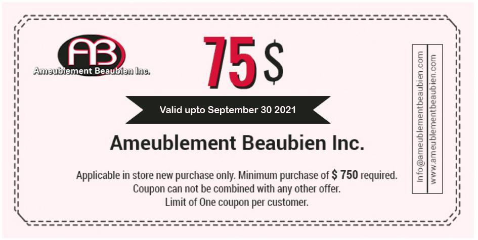 Meuble Montreal coupon 75$